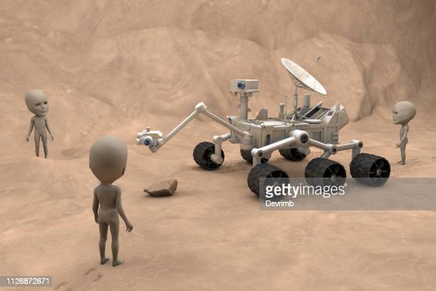 Mars Exploration Vehicle and Martians