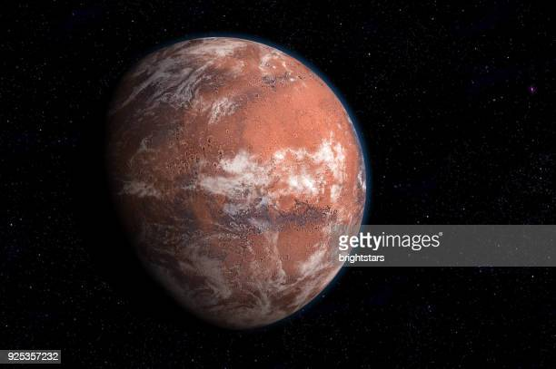 mars having atmosphere and ice - mars stock pictures, royalty-free photos & images