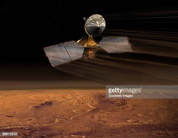 mars reconnaissance orbiter - solar orbiter stock pictures, royalty-free photos & images