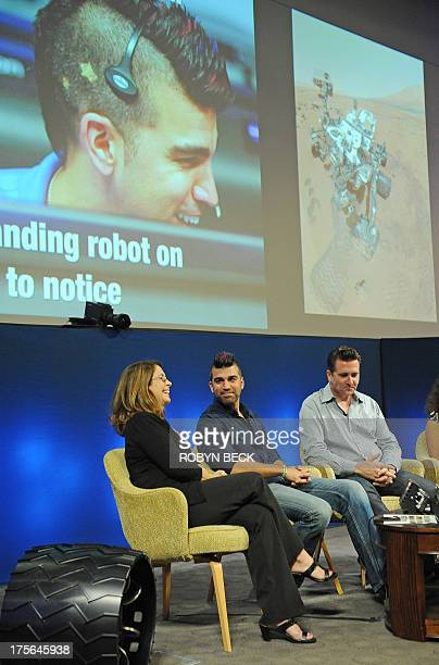 Mars Science Laboratory Flight Director Bobak Ferdowsi and other members of the Mars rover Curiosity team particpate in a pannel discussion to...