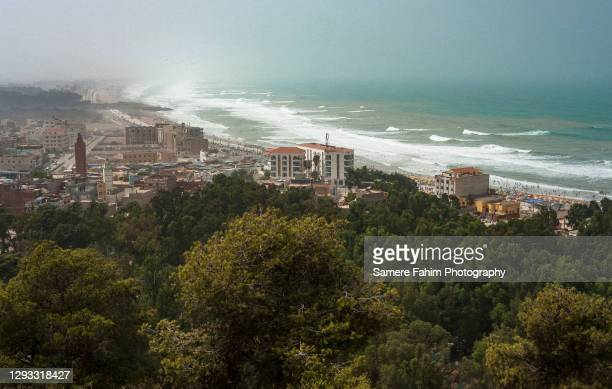 marsa ben m'hidi & saidia from a high hill - 2007 stock pictures, royalty-free photos & images