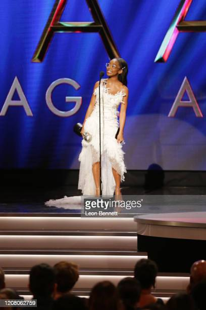 """Marsai Martin accepts the Outstanding Supporting Actress in a Motion Picture award for """"Little"""" onstage during the 51st NAACP Image Awards Presented..."""