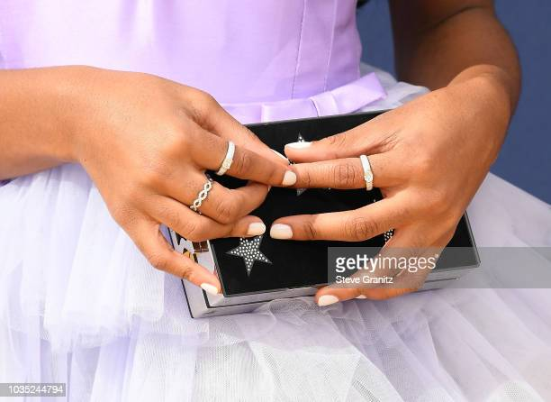 Marsai Martin, accessory detail, attends the 70th Emmy Awards at Microsoft Theater on September 17, 2018 in Los Angeles, California.