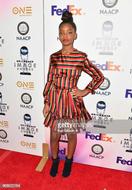 Marsai Martin at the 49th NAACP Image Awards NonTelevised Awards Dinner at the Pasadena Conference Center on January 14 2018 in Pasadena California