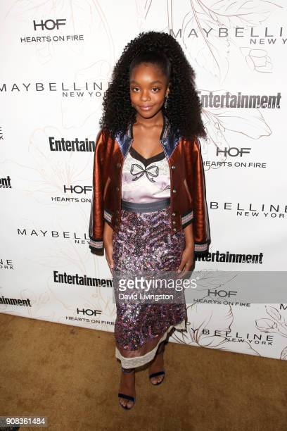 Marsai Martin attends Entertainment Weekly's Screen Actors Guild Award Nominees Celebration sponsored by Maybelline New York at Chateau Marmont on...