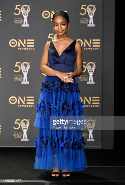 Marsai Martin attends the 50th NAACP Image Awards at Dolby Theatre on March 30 2019 in Hollywood California
