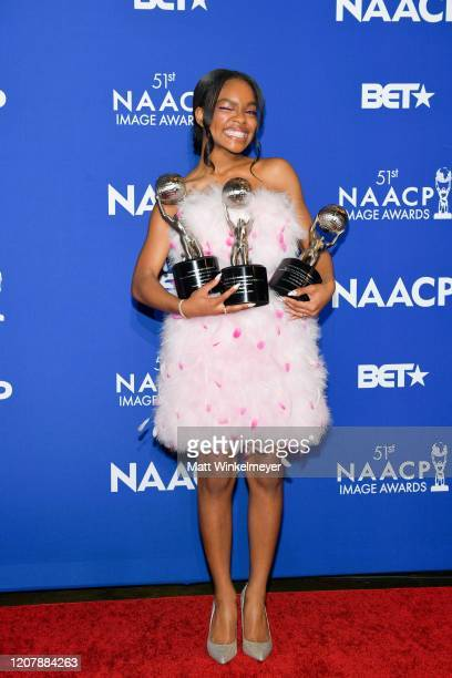 Marsai Martin attends the 51st NAACP Image Awards nontelevised Awards Dinner on February 21 2020 in Hollywood California