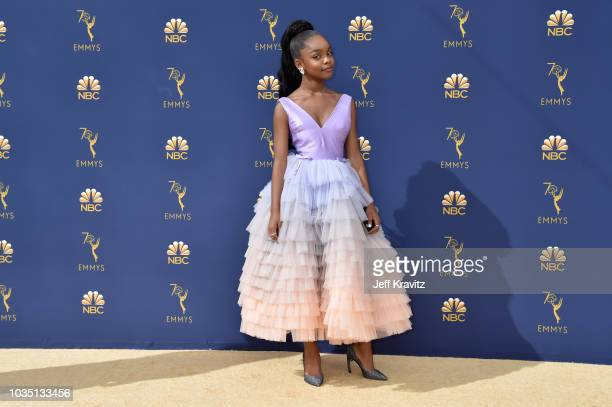Marsai Martin attends the 70th Emmy Awards at Microsoft Theater on September 17 2018 in Los Angeles California