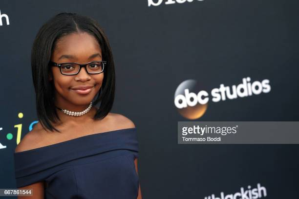 Marsai Martin attends the ABC's 'Blackish' FYC Event at Television Academy on April 12 2017 in Los Angeles California