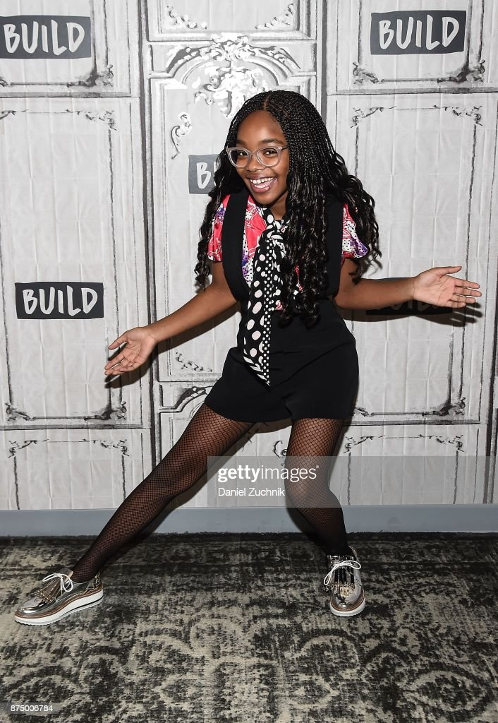 Marsai Martin attends the Build Series to discuss the show 'Black-ish' at Build Studio on November 16, 2017 in New York City.