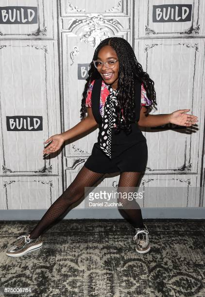 Marsai Martin attends the Build Series to discuss the show 'Blackish' at Build Studio on November 16 2017 in New York City
