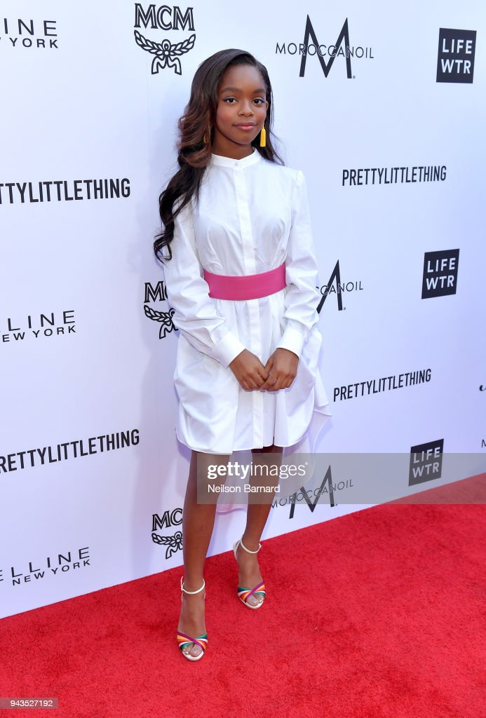 Marsai Martin attends The Daily Front Row's 4th Annual Fashion Los Angeles Awards at Beverly Hills Hotel on April 8, 2018 in Beverly Hills, California.
