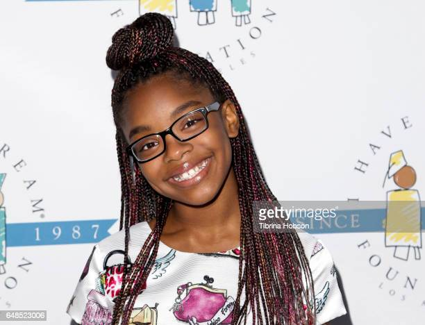 Marsai Martin attends the 'I Have A Dream' Foundation Annual Dreamer Dinner at Skirball Cultural Center on March 5, 2017 in Los Angeles, California.