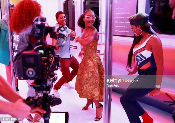 Marsai Martin attends the InstaCarpet during the BET Awards 2019 at Microsoft Theater on June 23 2019 in Los Angeles California