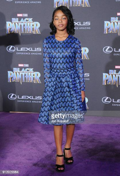 Marsai Martin attends the Los Angeles Premiere 'Black Panther' at Dolby Theatre on January 29 2018 in Hollywood California