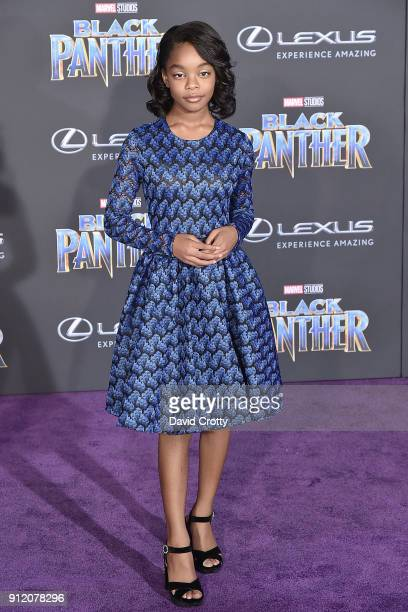 Marsai Martin attends the Premiere Of Disney And Marvel's 'Black Panther' Arrivals on January 29 2018 in Hollywood California