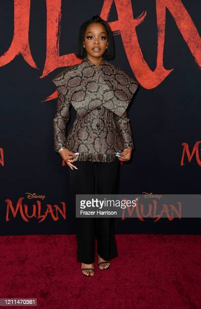 Marsai Martin attends the premiere of Disney's Mulan at Dolby Theatre on March 09 2020 in Hollywood California