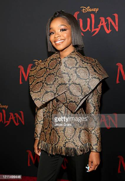 Marsai Martin attends the World Premiere of Disney's 'MULAN' at the Dolby Theatre on March 09 2020 in Hollywood California