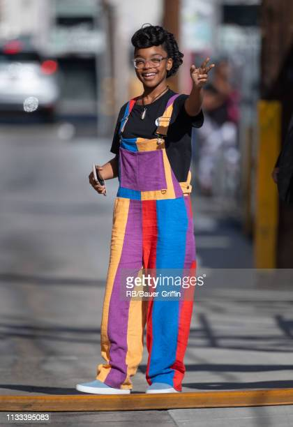 Marsai Martin is seen at 'Jimmy Kimmel Live' on March 28 2019 in Los Angeles California