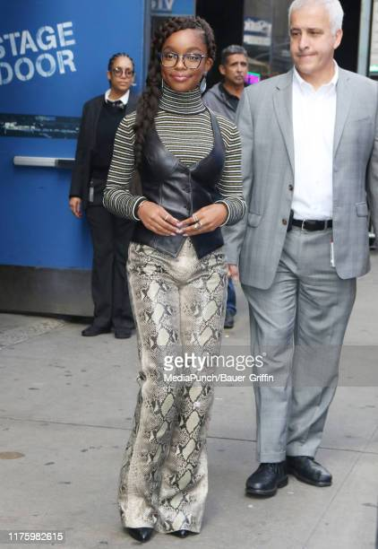 Marsai Martin is seen on October 14 2019 in New York City