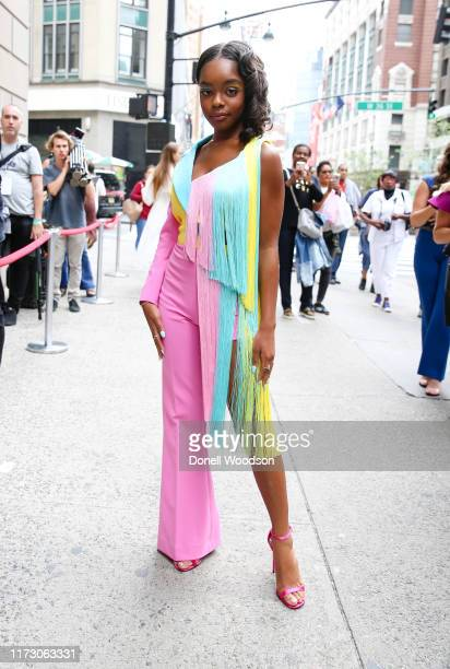 Marsai Martin poses during New York Fashion Week at Gotham Hall on September 07 2019 in New York City