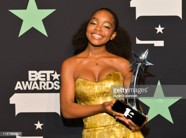 Marsai Martin poses for a portrait at the 2019 BET Awards on June 23 2019 in Los Angeles California