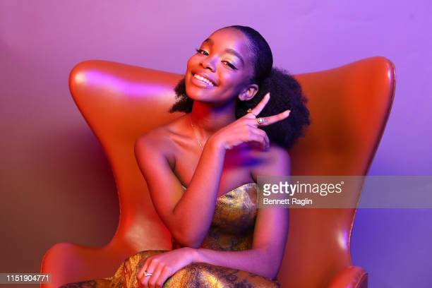 Marsai Martin poses for a portrait during the BET Awards 2019 at Microsoft Theater on June 23 2019 in Los Angeles California