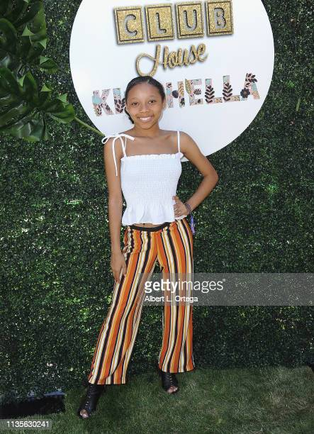 Marsaille Wells arrives for Clubhouse Kidchella held at Pershing Square on April 6 2019 in Los Angeles California