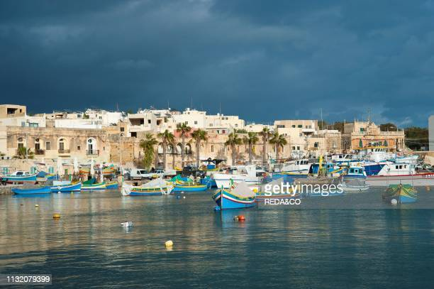 Marsaxlokk. Fishing Port. Malta Island. Mediterranean Sea. Europe.
