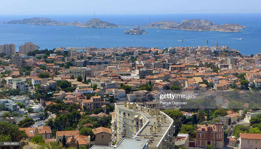Marseille and Frioul Archipelago, France : Stock Photo