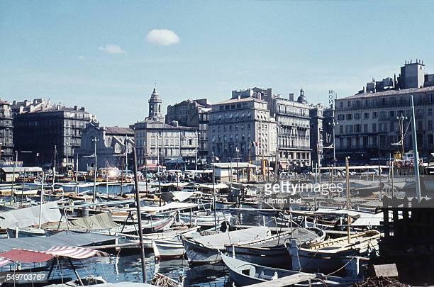 Marseille city centre in France around 1958