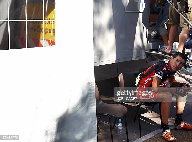 Frances Nicolas Portal stares away before going to the antidoping car control after the tenth stage of the 94th Tour de France cycling race between...