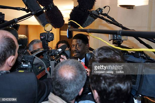 Marseille general manager Pape Diouf at the French Soccer Federation appeal board where French World Cup hero goalkeeper Fabien Barthez faces a six...