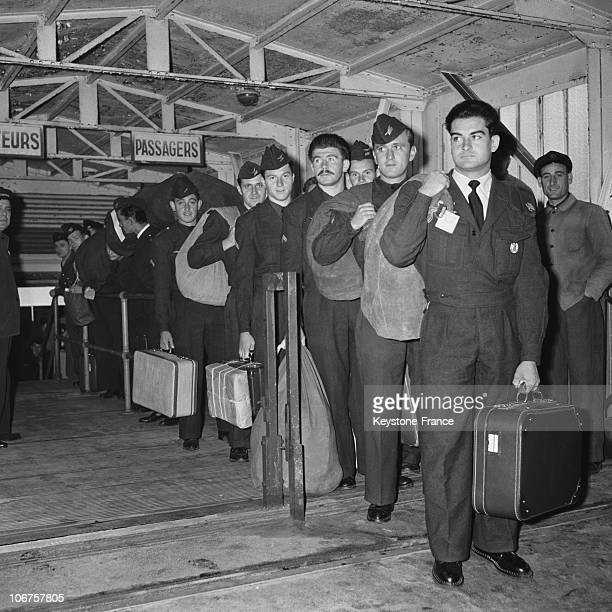 Marseille Harbour First Group Of Recalled Soldiers Coming Back From Algeria In October 1956