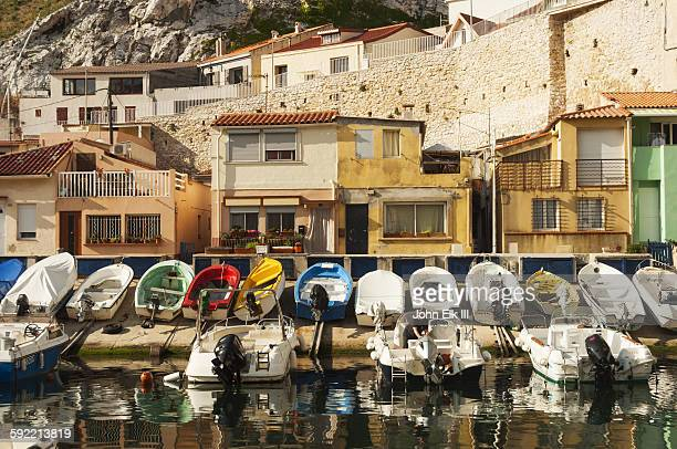 Marseille, houses and boats