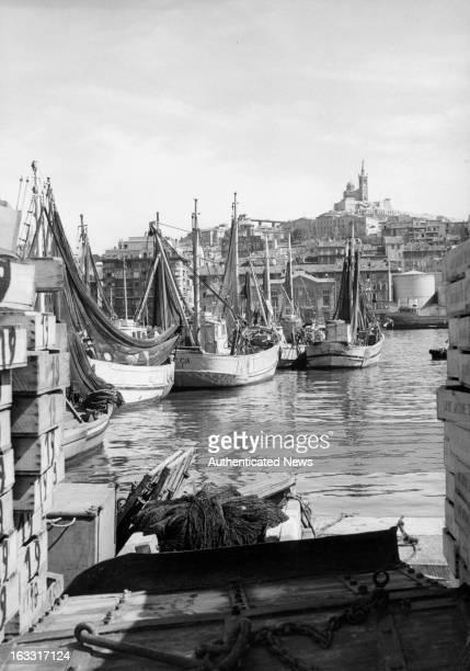 Marseille Le Vieux Port In France 1955
