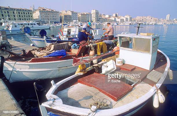 Marseille old port, fishing, boats