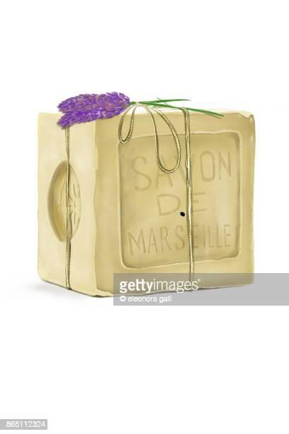 marseille soap - marselha imagens e fotografias de stock
