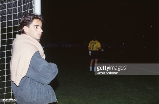Marseille Stephane Tapie son of the french businessman Bernard Tapie attends a soccer match 20th March 1991
