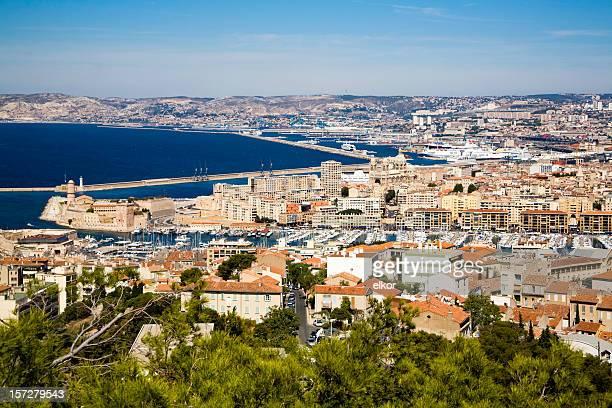 Vue de Marseille de Notre-Dame de la Garde s hill