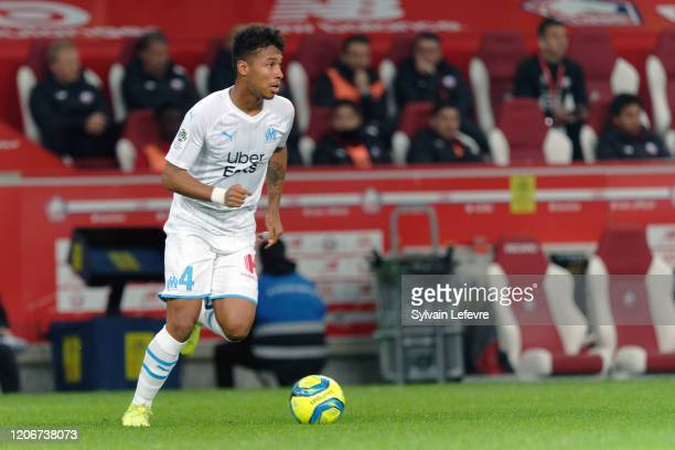 Marseille's Boubacar Kamara during the Ligue 1 match between Lille OSC and Olympique Marseille at Stade Pierre Mauroy on February 16, 2020 in Lille,...
