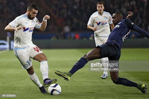 Marseille's French midfielder Romain Alessandrini vies with Paris SaintGermain's French midfielder Blaise Matuidi during the French L1 football match...