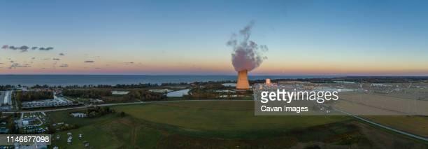 marsh, davis-besse nuclear power plant, oak harbor, ohio - uranium stock pictures, royalty-free photos & images