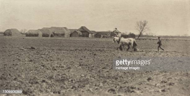 Marsh Farm in Early Spring, 1890-1891, printed 1893. Artist Dr Peter Henry Emerson. .