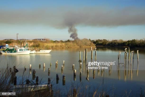 Marsh Fire, Lake Catherine, New Orleans, LA