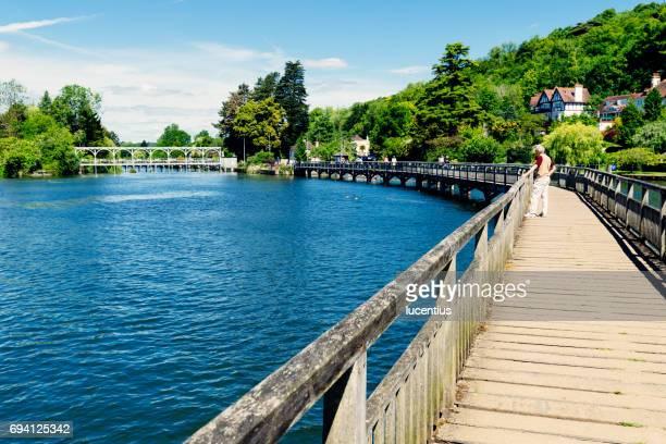 Marsh Lock weir, River Thames, Henley, England