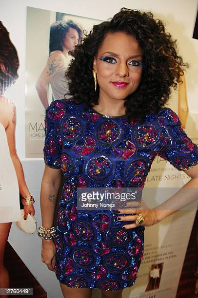"""Marsha Ambrosius attends her """"Late Nights & Early Mornings"""" album release party at The Samsung Experience on March 1, 2011 in New York City."""