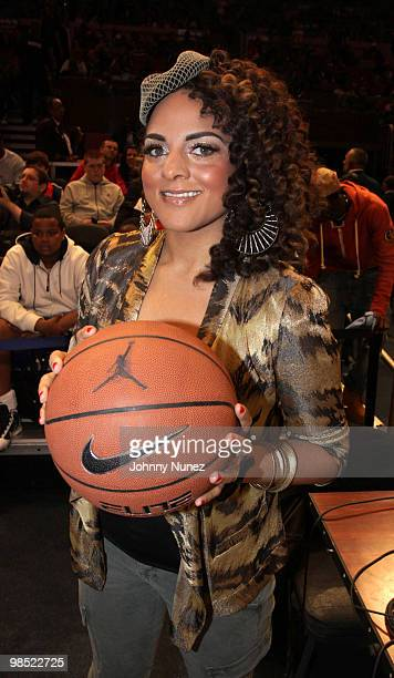 Marsha Ambrosius attends the Jordan Brand Classic National Game at Madison Square Garden on April 17, 2010 in New York City.