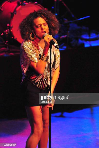 Marsha Ambrosius performs in concert during the Heineken Inspire Philadelphia event at Theater of the Living Arts on July 17, 2010 in Philadelphia,...