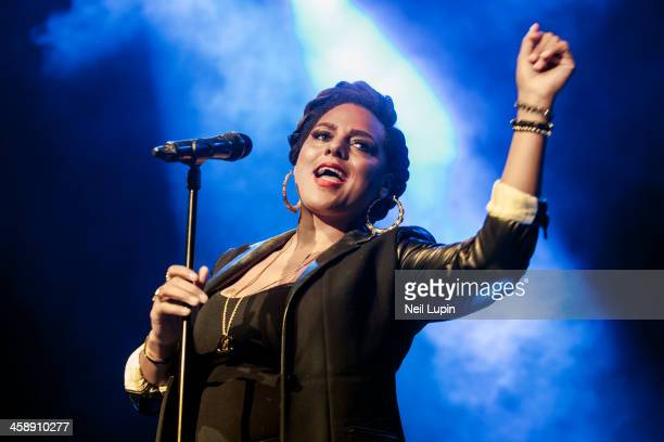 Marsha Ambrosius performs on stage at Indigo2 at O2 Arena on December 21, 2013 in London, England.